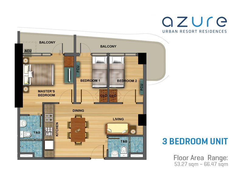 Residential property for sale at azure urban resort residences - World quest resort 3 bedroom condo ...