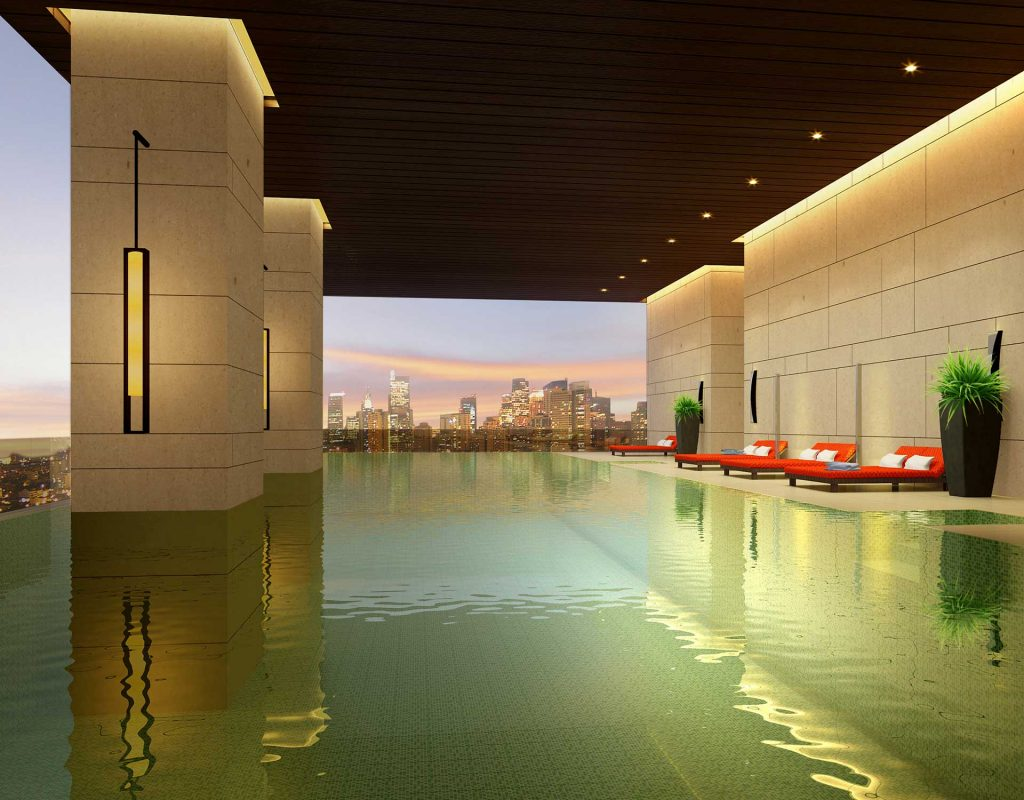 real estate philippines trump tower swimming pool