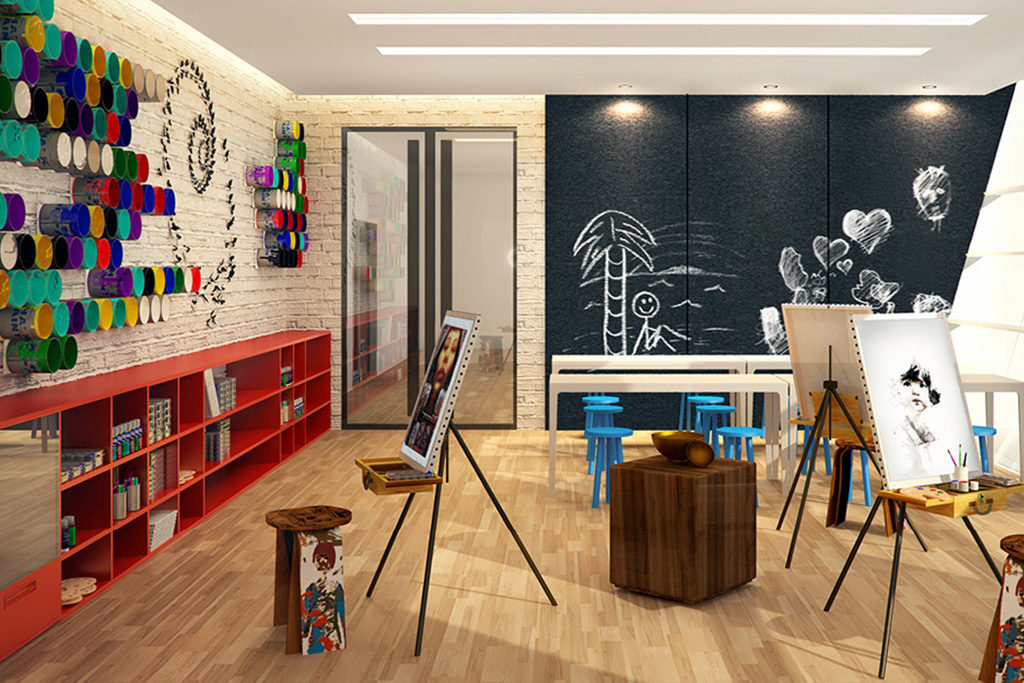 arts and crafts studio at residences at commonwealth by century