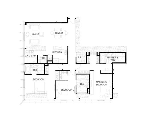 3 bedroom floor plan at trump tower