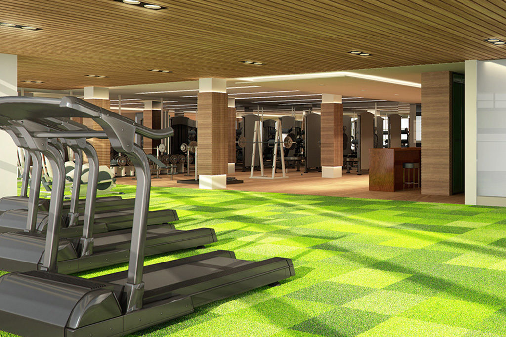 fitness center at residences at commonwealth by century