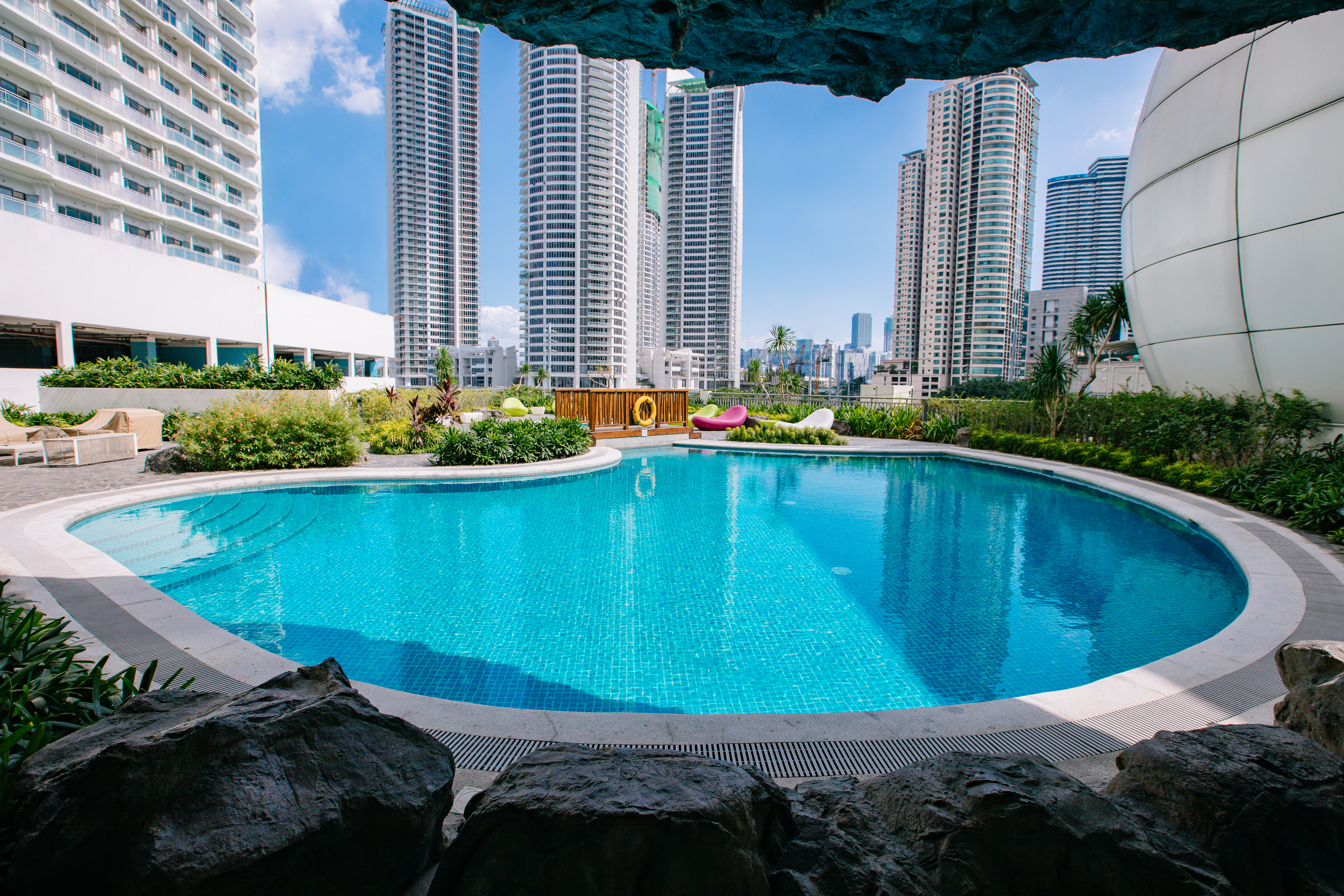 pool area at acqua private residences