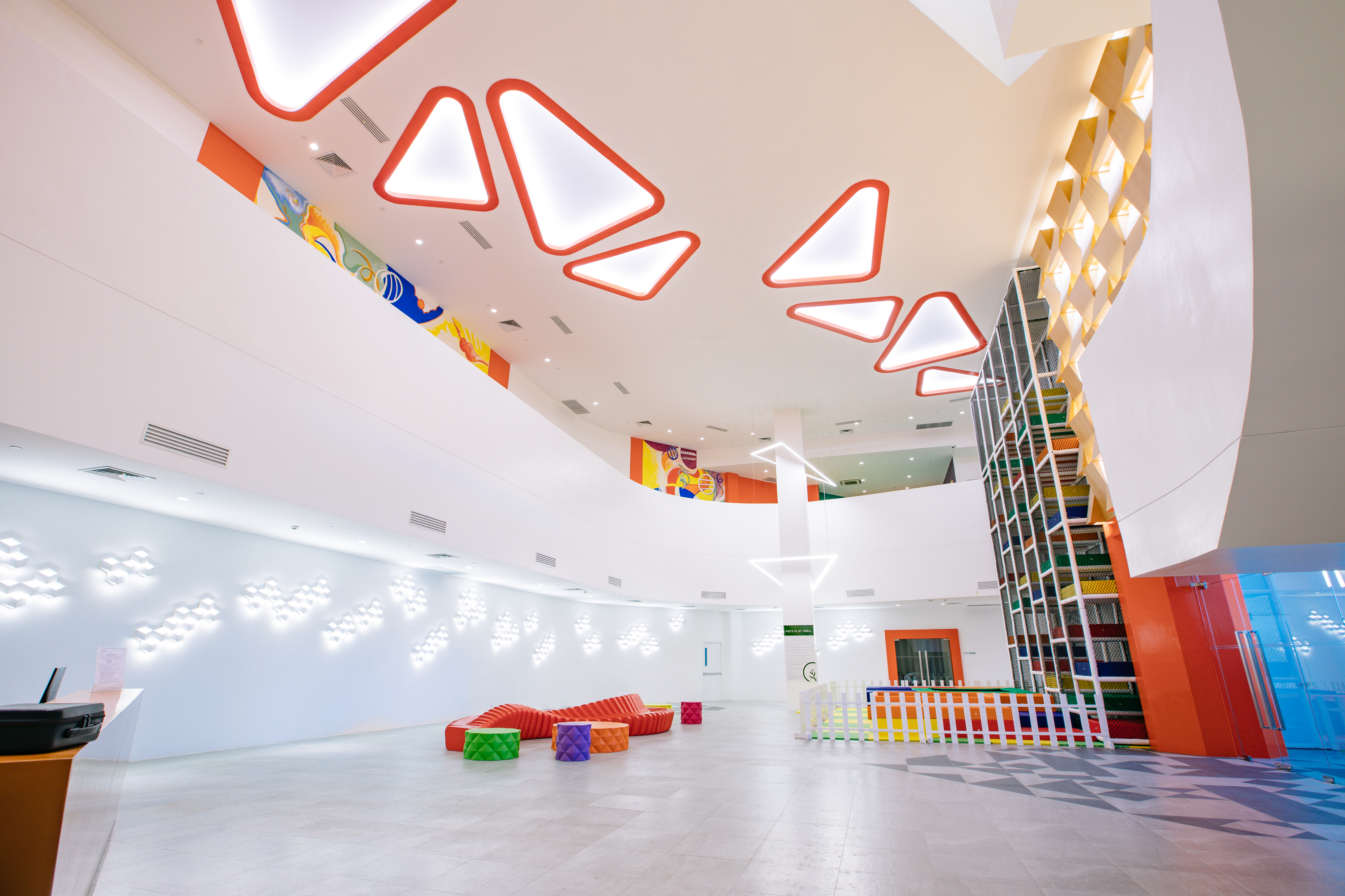 kids play area at acqua private residences