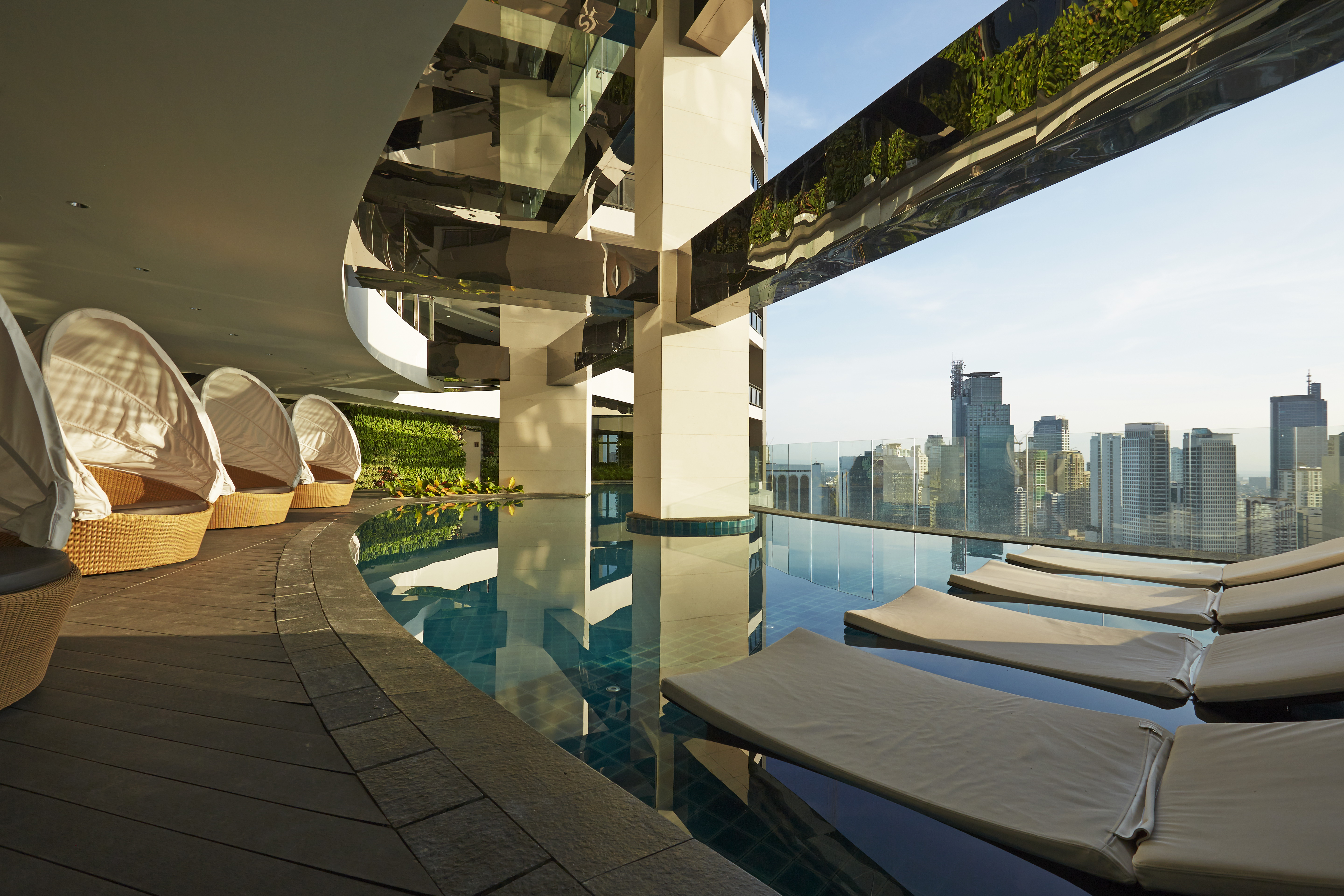 infinity pool at The Gramercy Residences