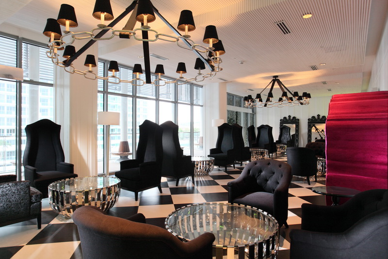 function room inside the Paris Beach Club