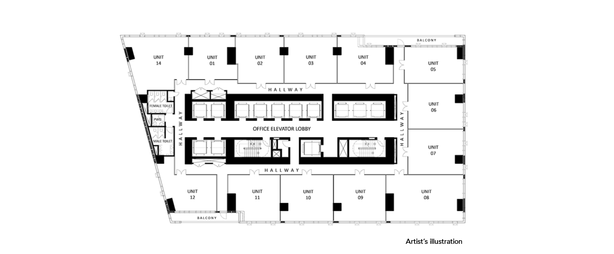 century spire office floor plan