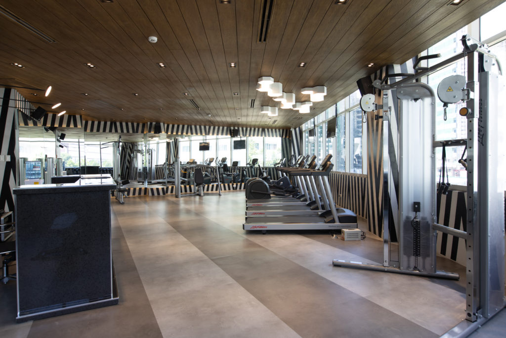 Gym and Dance Studio at the residences at commonwealth by century
