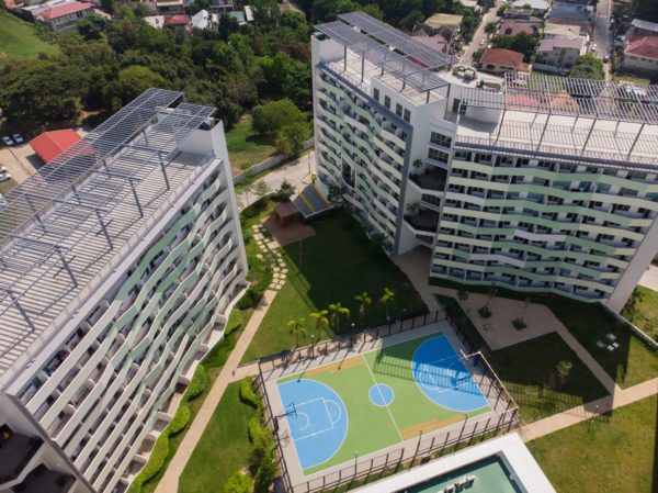 aerial shot of the residences at commonwealth by century