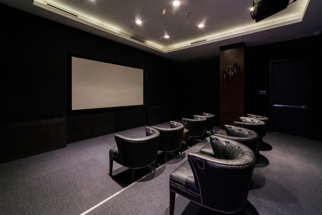 movie room at azure