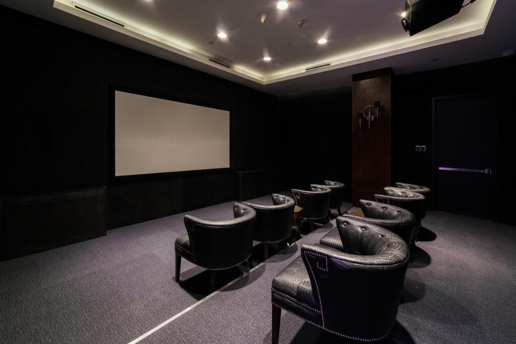 movie room at azure