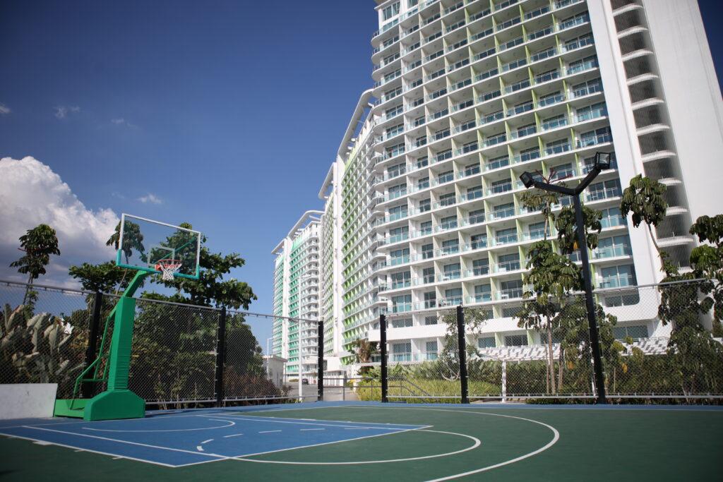 azure basketball court
