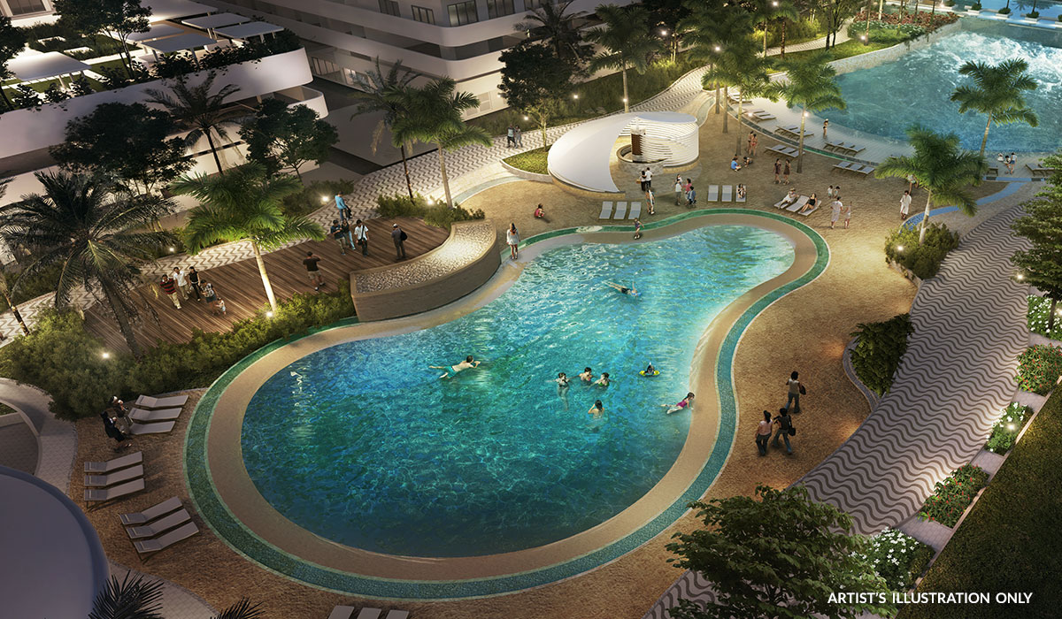 Artist Illustration of Azure North Swimming Pool