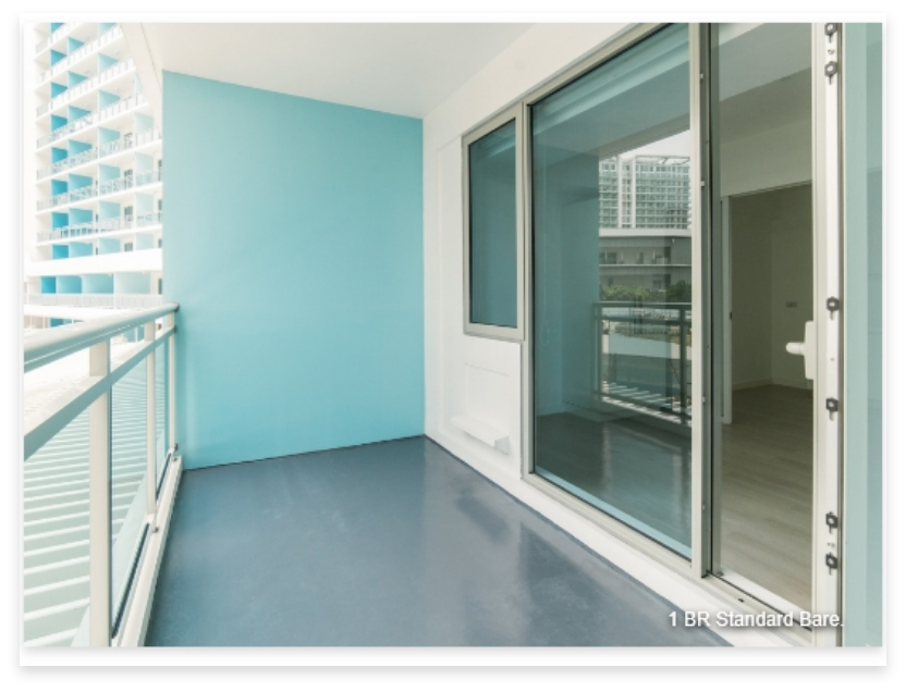 1 BR Model Unit. All units are delivered Standard Bare or an optional Fully-Fitted upgrade.