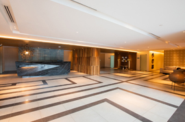 lobby area at dettifoss acqua private residences