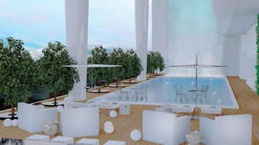 pool at the cielo at acqua private residences