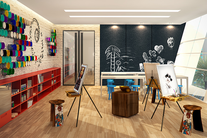Arts and Crafts Studio at the Residences at Commonwealth by Century