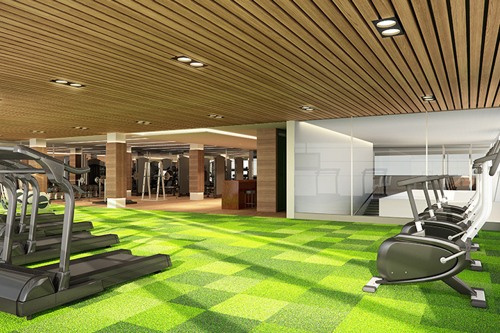 Fitness Center and Dance Studio at the Residences at Commonwealth by Century