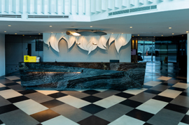 lobby area at sutherland acqua private residences